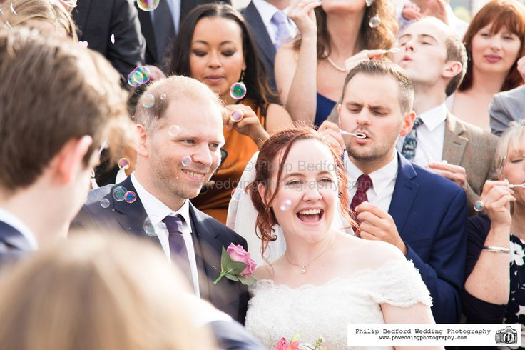 #Wedding bubbles with the #Bride & #Groom