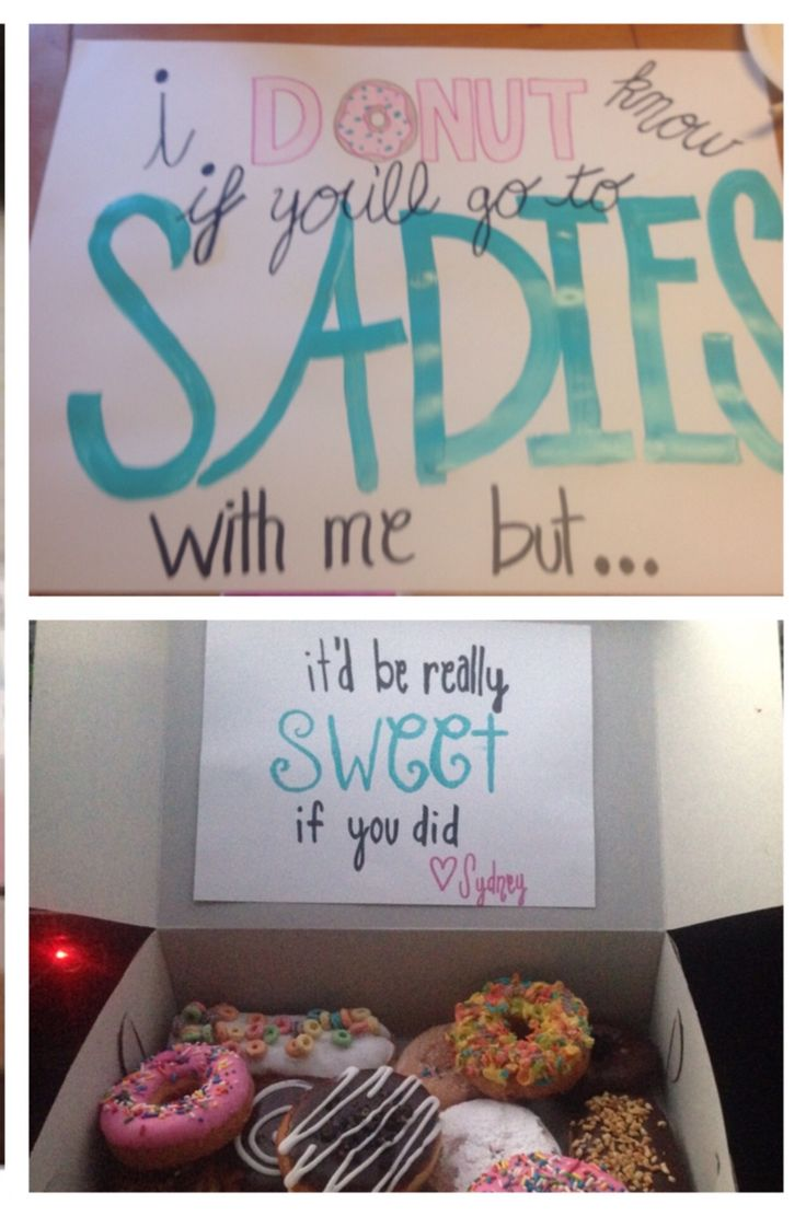 Sadies Asking My Cute Cousin Made This And Used Pink Box Donuts To Match!