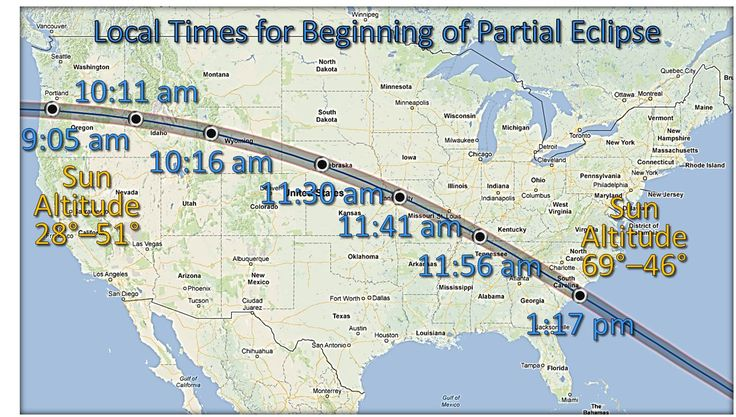 solar eclipse 2017 map - Google Search