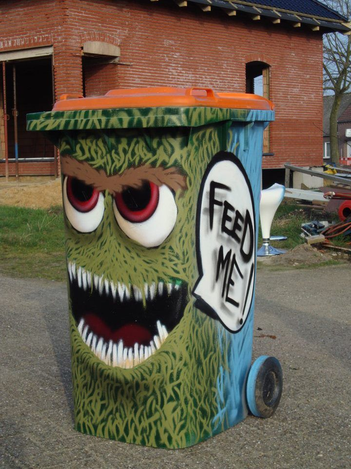 Best 25 Painted Trash Cans Ideas On Pinterest Can