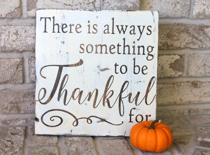 Thanksgiving Sign - Thankful - Antique White & Brown- Wood Decor $30