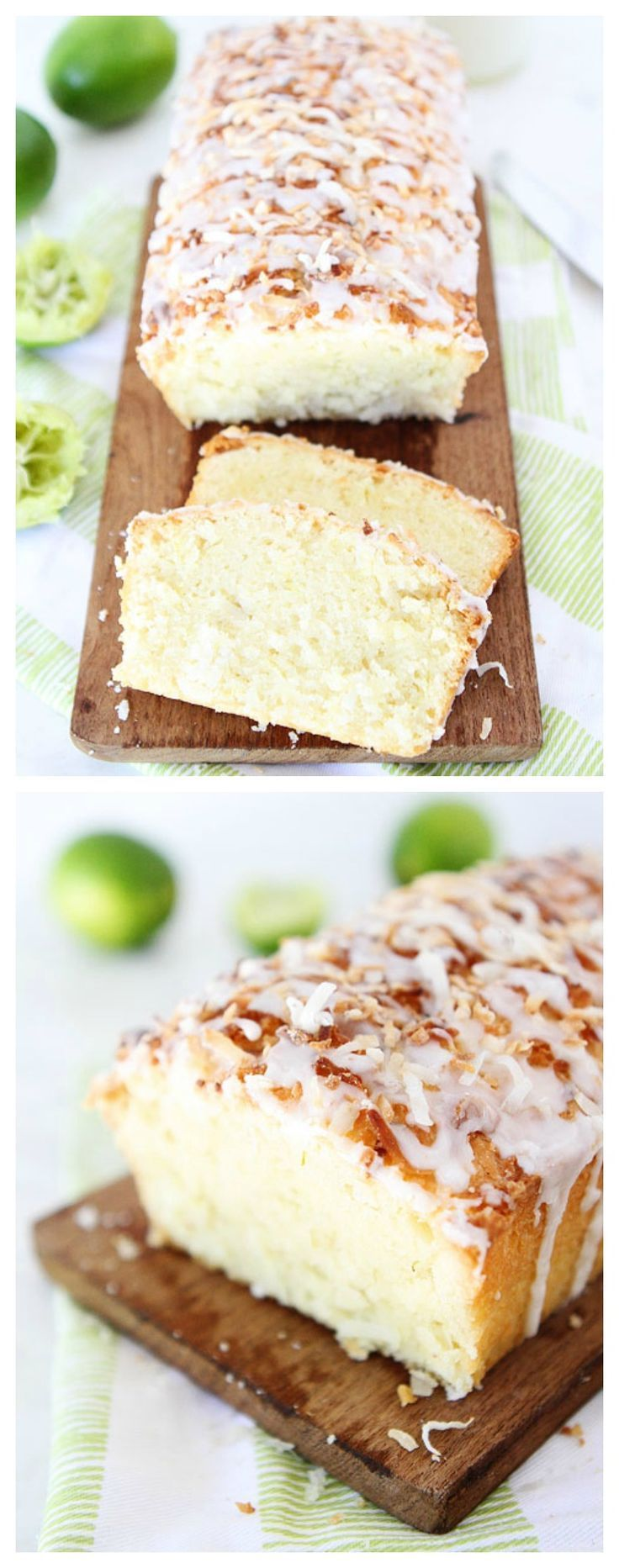 Coconut Lime Loaf Cake Recipe on http://twopeasandtheirpod.com The BEST cake ever and it is so easy to make. The coconut lime combo is perfection!