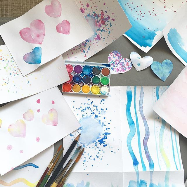 Prepping for the watercolors crafternoon next week... A wonderful way to spend a Saturday morning  #watercolors #diy #Crafternoon #craftwithus