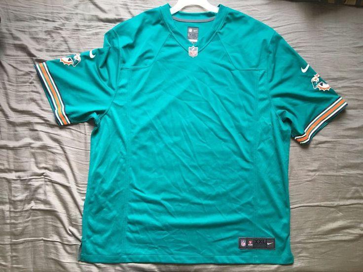 Men's Nike NFL Miami Dolphins home jersey blank size XXL