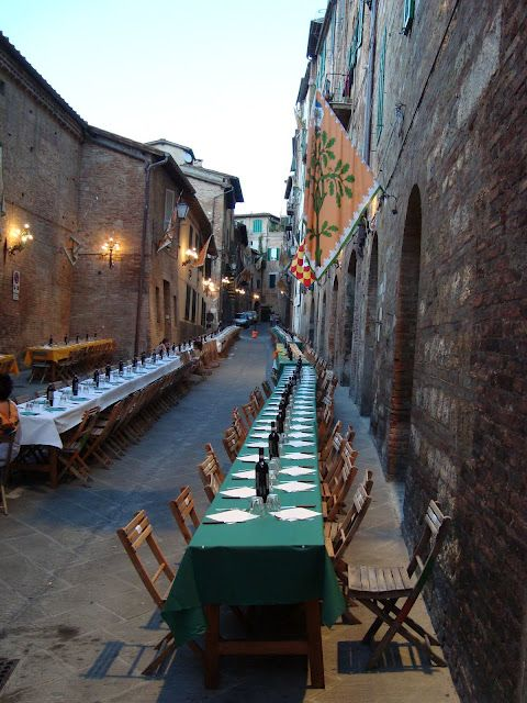 Siena, Contrada [neighborhood] dinner