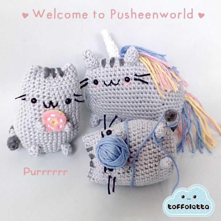 Welcome to Pusheenworld!! Purrrr.... Pusheen the cat cute amigurumi by Toffoletta