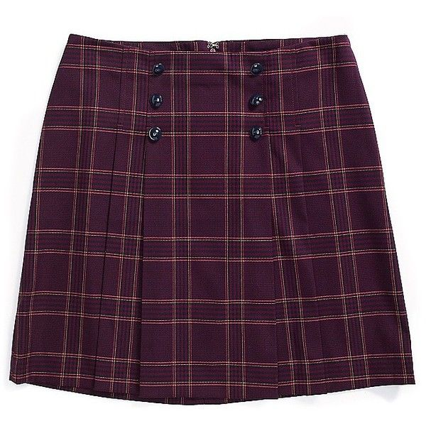Tommy Hilfiger Plaid Pleated Skirt (78 CAD) ❤ liked on Polyvore featuring skirts, lycra skirt, tartan pleated skirt, knee length pleated skirt, spandex skirt and tommy hilfiger