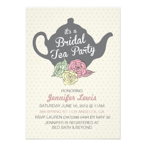 Bridal Tea Party Invite
