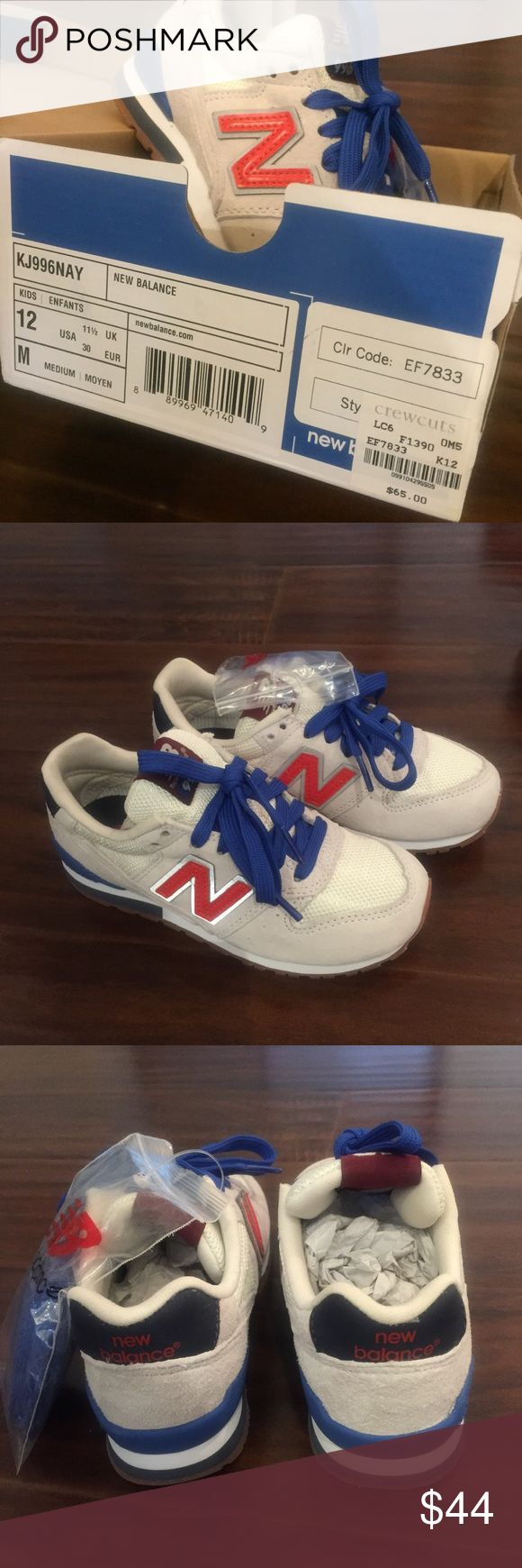 New balance kids shoes size 12 New. Never worn. Bought it from South Coast Plaza at J. Crew store. I paid $65+tax. It was so popular shoes. Feel free to ask and make an offer. New Balance Shoes Sneakers