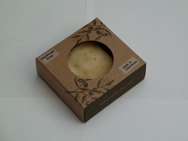 Apple and Elderflower handmade soap, gorgeous fragrance, long lasting, pretty gift.