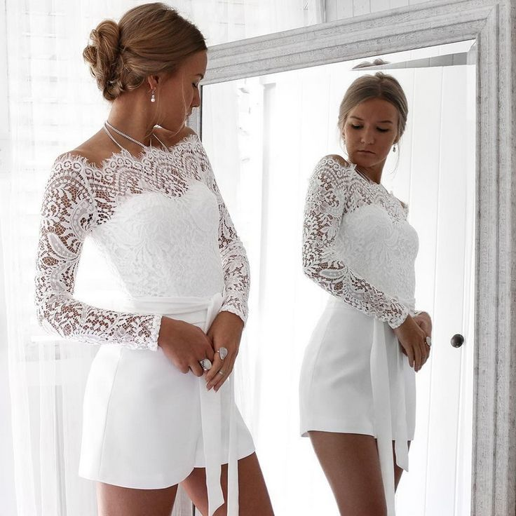 LASPERAL Sexy Lace Off Shoulder Womens Jumpsuit Patchwork Bodycon Rompers 2018 New Arrive Long Sleeve Women Bodysuit 2