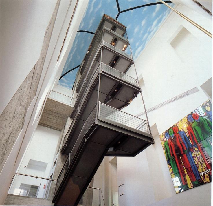 Andrea Bruno's staircase Castello di Rivoli Museo d'Arte Contemporanea