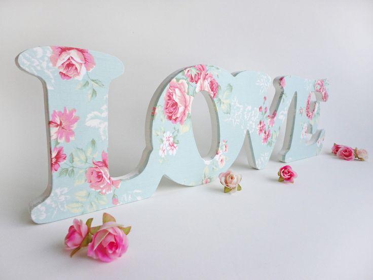 "Letras Decorativas G - Love ""Romântico"""