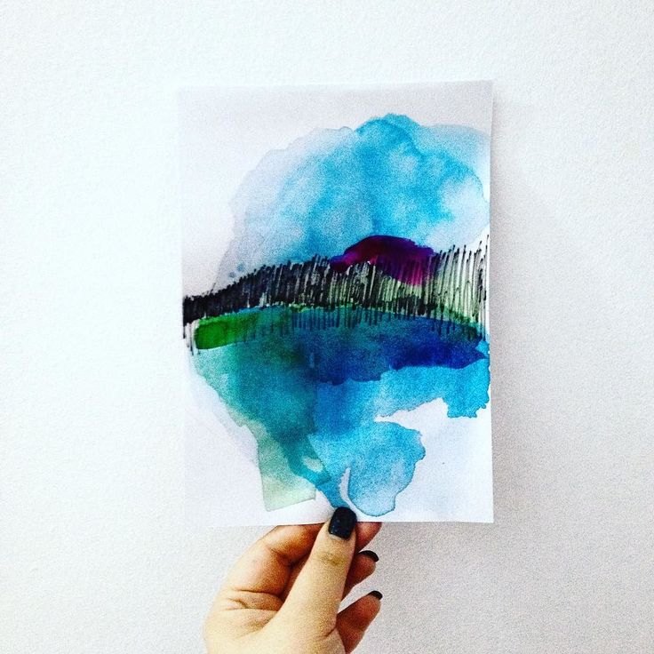 Abstract watercolor landscape #mixedmedia #landscape #artistic #art #watercolorsketch #watercolor #design #designer #artislife #lovemyjob #lovmyjob #lovemywork #thehappynow #thatsdarling #pursuepretty #graphicdesign #handpainted #handdrawn #abstract #abstractart