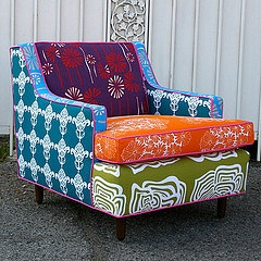 Needs to be in my home asap.: Patchwork Armchair, Decor, Henry Road, Ideas, Inspiration, Funky Chair, Armchairs, Furniture