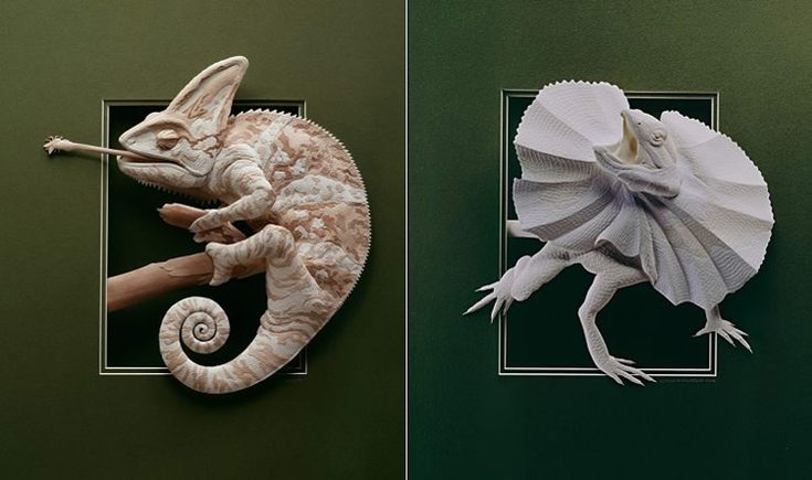 Incredibly complex paper models.