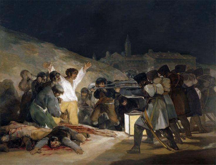 """""""3 Maggio 1818"""" 1814  Dimension: 266 x 345 cm  Museo del Prado, Madrid"""