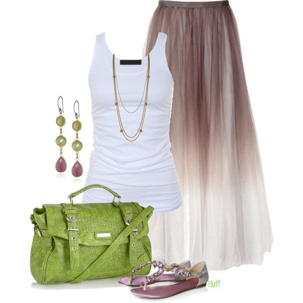 """""""dusty"""" by fluffof5 on Polyvore: Boho Green, Fashion Outfit, Casual Outfit, Dream Closet, Fashion Idea, Cute Summer Outfit, Summer Skirts, Maxis Skirts, My Style"""