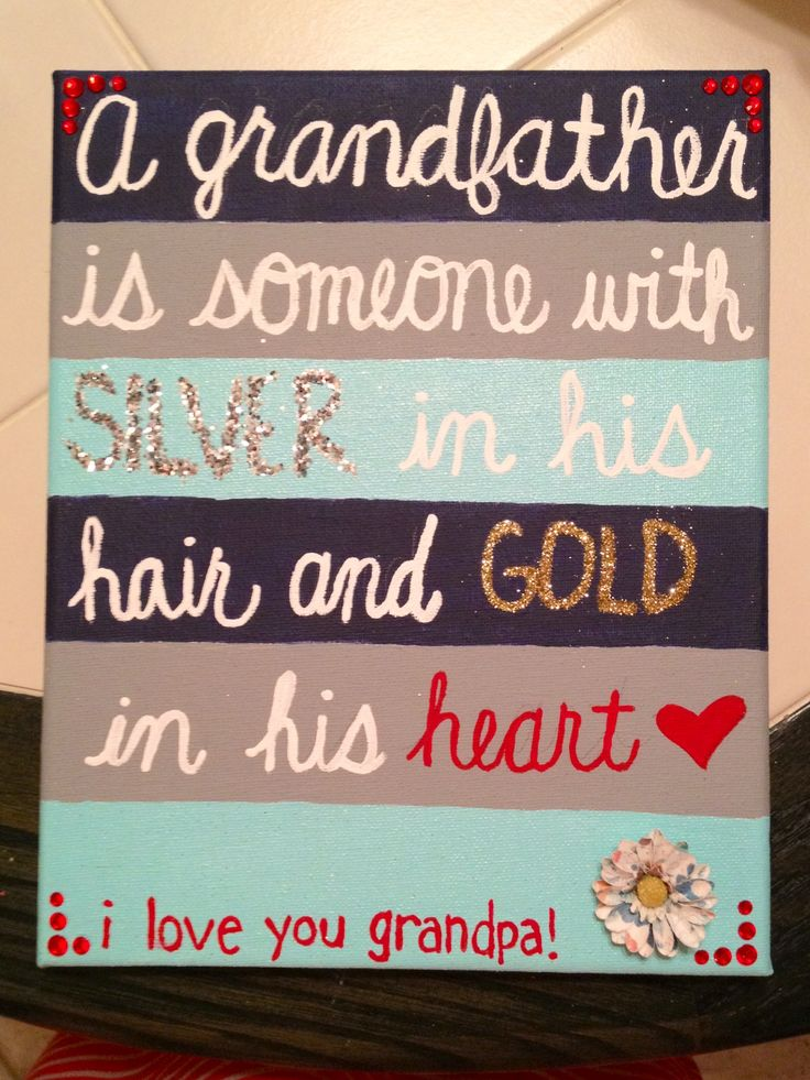 The present I made for grandpa! I can't wait to give it to him! :) <3