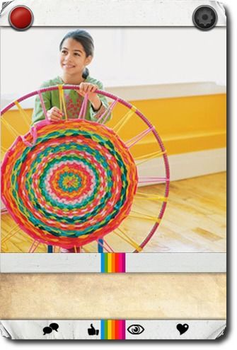 Hula Hoop Rug   Easy Crafts for Kids -- Quick Arts and Craft Ideas -- Kids' Crafts   FamilyFun   Carddit