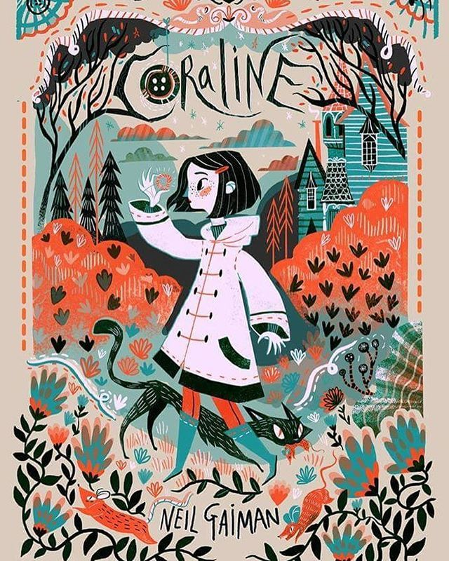 Book cover designs for the portfolio #coraline #bookcovers #illustration…