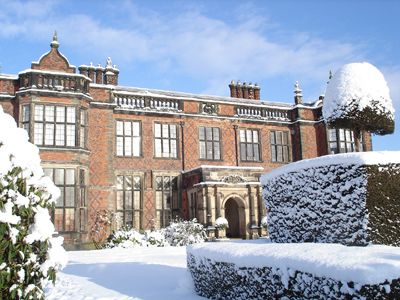 Arley Hall, Northwich built between 1832 and 1845 in the Victorian-Jacobean style.