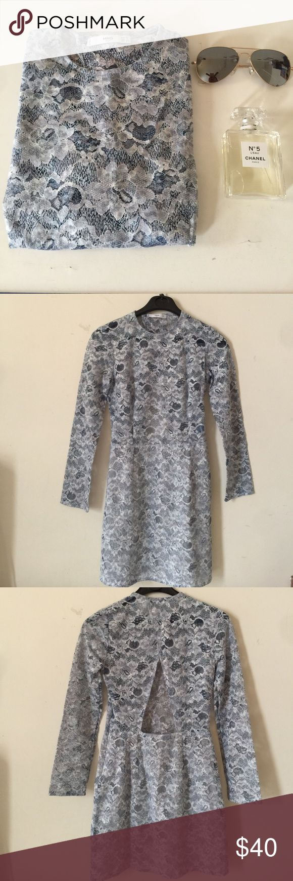 Mango outlet dress size 2 Brand new dress ,fit size like 0,never worn light blue mango Dresses Mini
