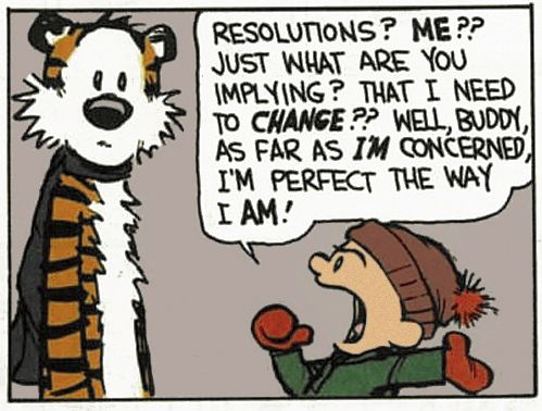 Calvin & Hobbes  resolutions? me??