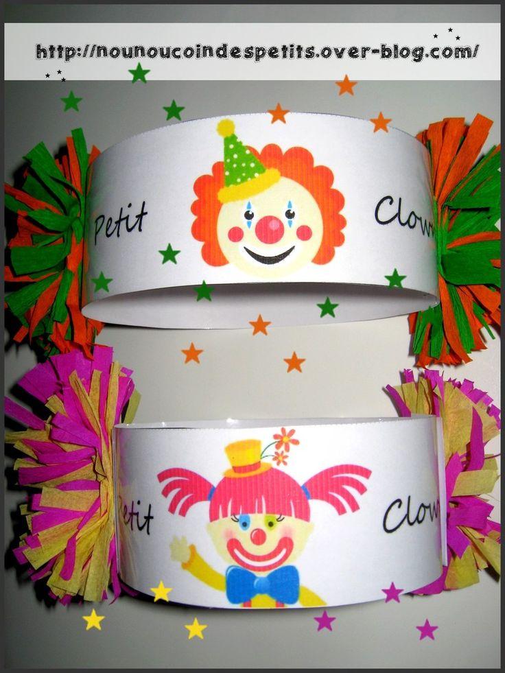- chapeau du petit clown version fille et garcon pour le carnaval , même principe que pour la toque du petit chef ... - pour les réaliser il vous faudra découper dans du papier crépon de couleur une petite longueur plié en deux qu'il faudra couper en...