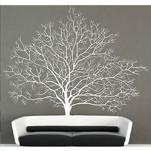 White Birch Tree Wall Decal Branch Forest Decals Large Tree Wall Sticker Mural