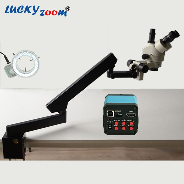 Find More Microscopes Information about Lucky Zoom Brand 7X 45X Trinocular Articulating Arm Pillar Clamp Stereo Zoom Microscope 14MP HDMI Microscope Camera 144 LED,High Quality hdmi microscope camera,China microscope camera Suppliers, Cheap lucky zoom from Luckyzoom Shop (professional microscope ) on Aliexpress.com