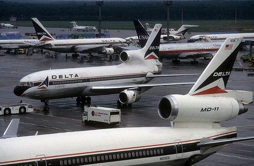 Delta Airlines McDonnell-Douglas MD-11 and MD-88, Lockheed L-1011 TriStar, Boeing 767-232/ER, 767-332/ER, and 727-232