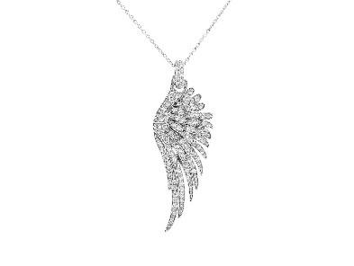 Pippo Perez - Large White Diamond Angel Wing