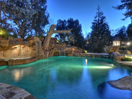 Love the rope swing and waterfalls dream home - What do dreams about swimming pools mean ...