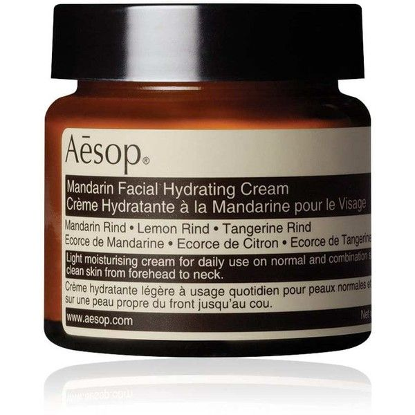 Aesop Women's Mandarin Facial Hydrating Cream (€42) ❤ liked on Polyvore featuring beauty products, skincare, face care, face moisturizers, no color, aesop and face moisturizer