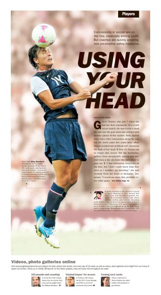 Using your head #Newspaper #Design #Layout