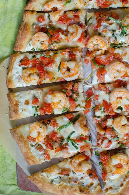 Shrimp Caprese Pizza