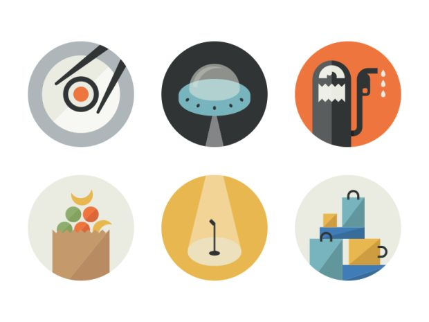 Flat Glyphs 620x465 18 Incredible Flat Icon Designs
