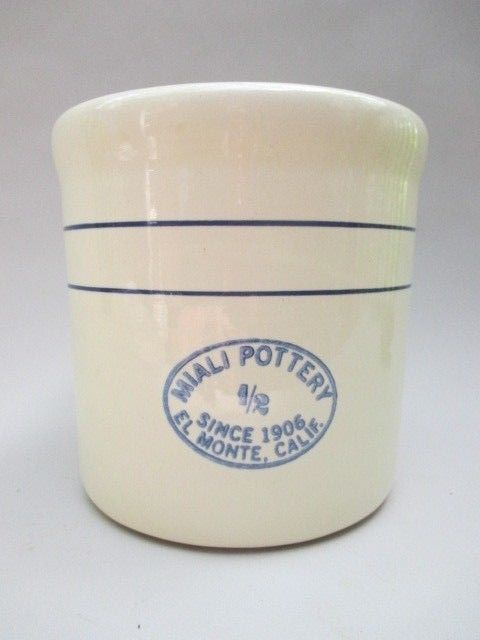 Miali Pottery 1 2 Gallon Stoneware Crock Container El