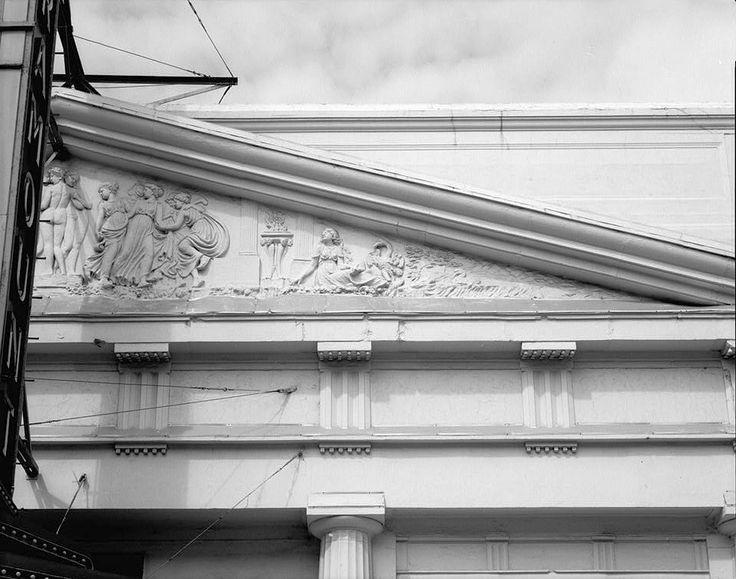Paramount theatre baton rouge louisiana east facade detail