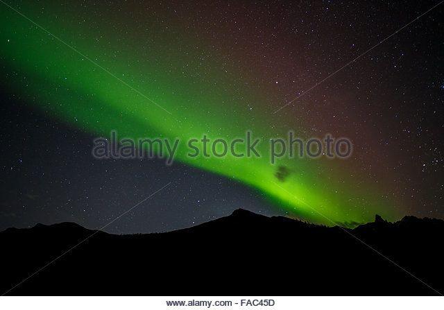 Aurora borealis in the Brooks Range, Dalton Highway, Alaska. - Stock Image