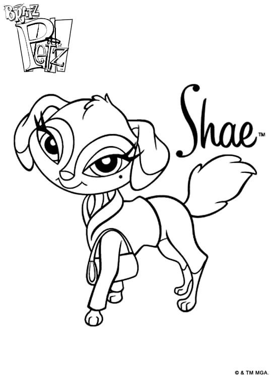bratz pets 999 coloring pages