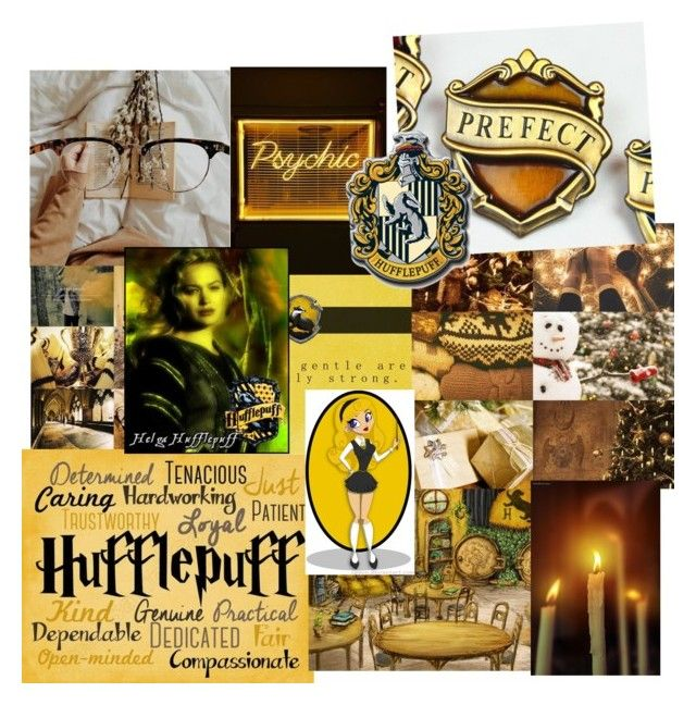 """Hufflepuff Aesthetic"" by firecutie ❤ liked on Polyvore featuring Traits, harrypotter, slytherin, Gryffindor, ravenclaw and Hufflepuff"