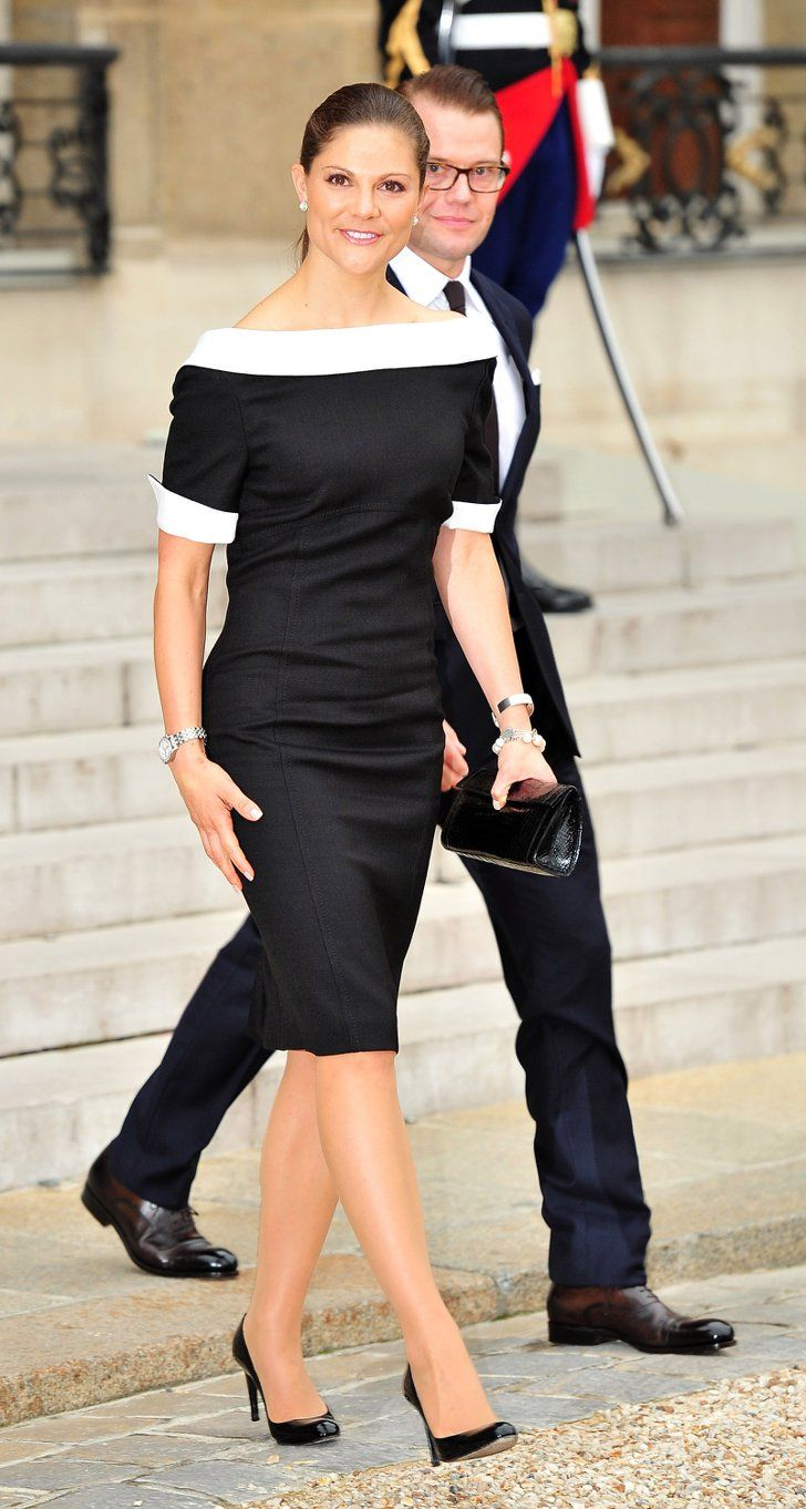 Pin for Later: 44 Reasons Victoria, Crown Princess of Sweden Is the Royal Glamazon You Need to Follow She Can Work a Sophisticated Black and White Look Princess Victoria gives Charlotte York a run for her money!