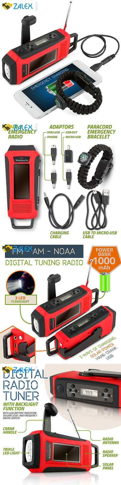 Portable AM FM Radios: Emergency Solar Hand Crank Noaa Weather Radio Led Flashlight Charger Powered Mob -> BUY IT NOW ONLY: $31.99 on eBay!