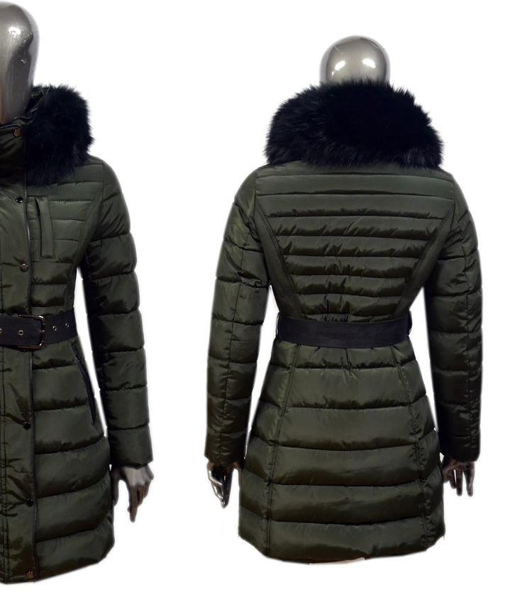 Fashion Planet heeft een ruime collectie winterjassen en bontjassen voor zowel damesals heren. Onze Heren jassen kunt u online bestellen maar u kunt deze jassen met bontkraag ook komen passen in onze winkel in Amsterdam.-Dames Groene Parka Jas met Zwarte Bont DJ037 | Modedam.nl- Kleur: G