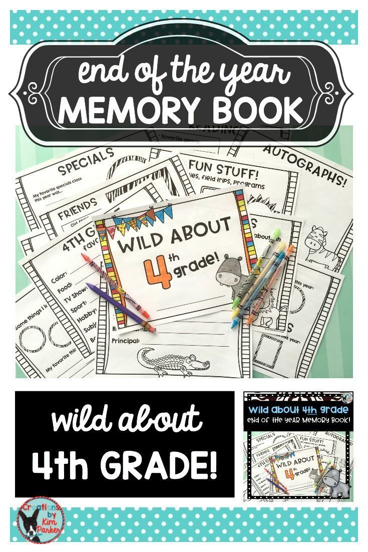 $ Looking for a fun way to reflect on the school year? This wild animal themed booklet will allow students to create an end of the year keepsake. Booklet Includes: Cover  School Year At a Glance Favorites Memories (the thing I will remember most about 4th grade...) Reading Reflections Math Reflections Friends Recess Memories Specials Memories Field Trips, Programs, Parties Autographs $