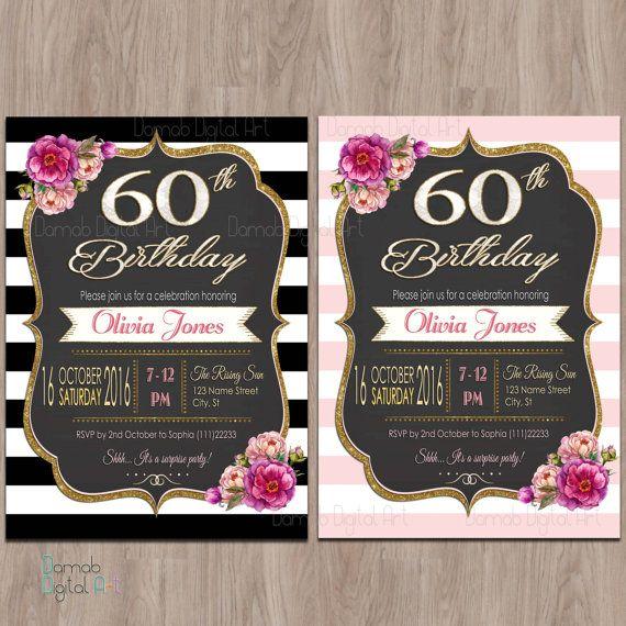 60th Birthday Color Ideas: 60th Birthday Invitations, 60th Birthday Invitations For