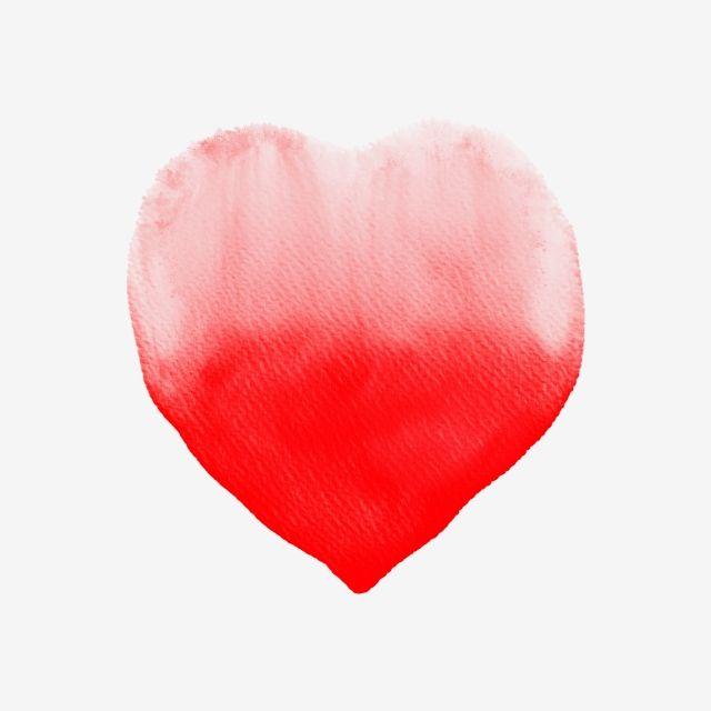 Red Heart Watercolor Red Heart Watercolor Png Transparent