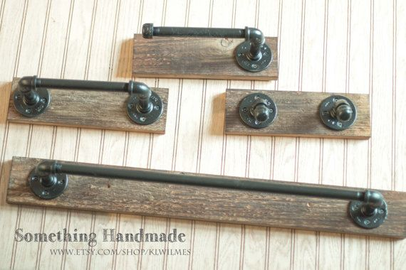 barn wood bathroom set rustic100 year old wood 24 inch towel bar/hand towel bar /robe rack/toilet paper holder Free shipping